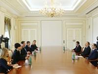 Президент Ильхам Алиев  принял министра иностранных дел Литвы