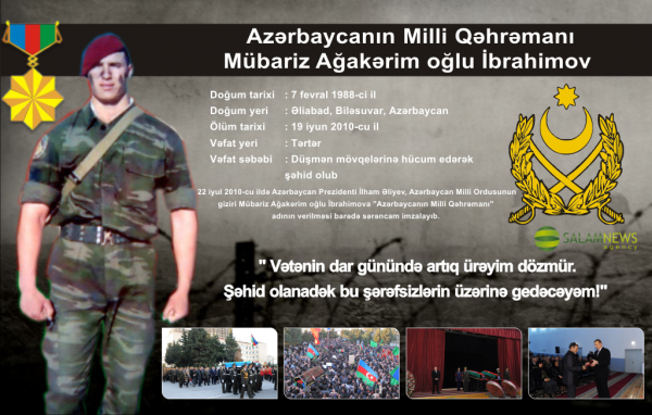 Azərbaycanın Milli Qəhrəmanı Mübariz Ağakərim oğlu İbrahimov