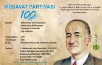 8 oktyabr - Müsavat Partiyasının 100 illik yubileyidir